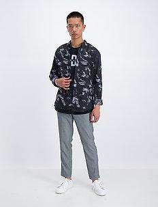 AOP L/S check shirt - avslappede skjorter - black