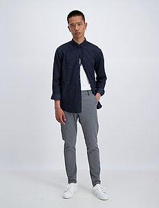 Jacquard logo denim L/S shirt - avslappede skjorter - black