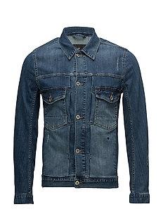Dirty wash indigo denim jacket - DIRTY WASH