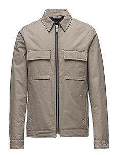 Patch pocket blouson jacket - DK SAND