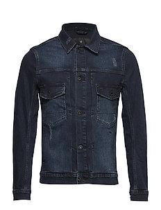 Overdye finish denim jacket - NIGHT BLUE