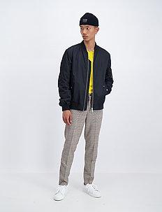 Padded bomber jacket - bomber jakke - black