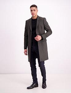 Tailored wool coat - ullfrakker - dk green mel