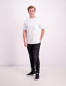 Loose fit stripe tee - lyhythihaiset - white
