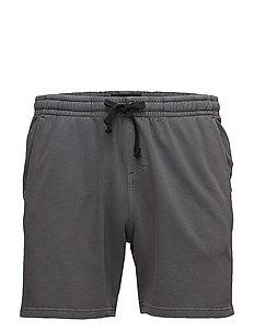 Washed sweat shorts - ASPHALT GREY