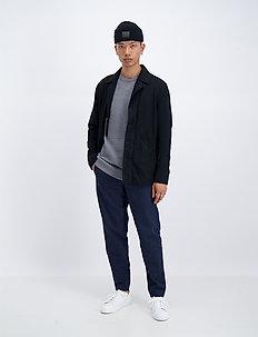 Fisherman knitted jumper - basisstrikkeplagg - grey mel
