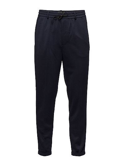 Bonded fabric jogger pants - DRESS BLUE