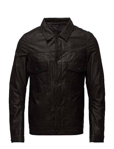Type 2 leather jacket - BLACK