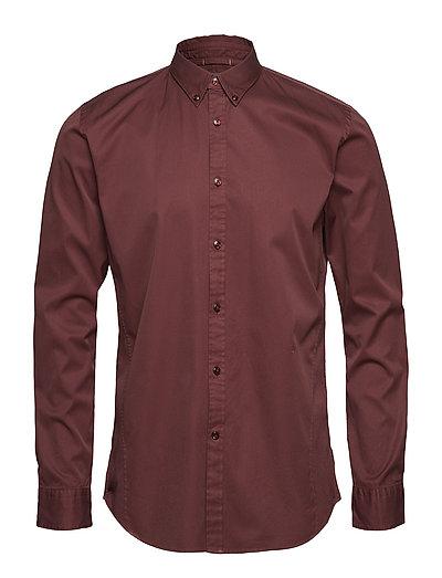 GarmentdyedtwillL/Sshirt - DK PURPLE
