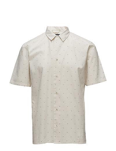 Cotton linen resort S/S shirt - OFF WHITE
