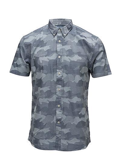Camouflage indigo S/S shirt - INDIGO