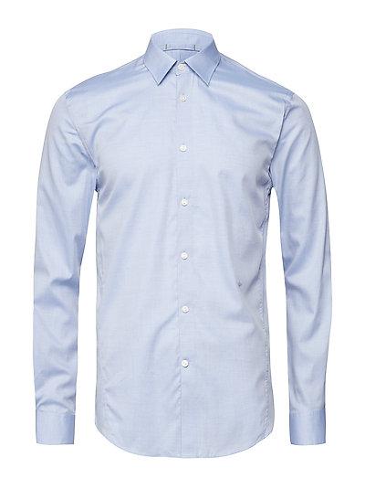 Fine cotton L/S dress shirt - LT BLUE