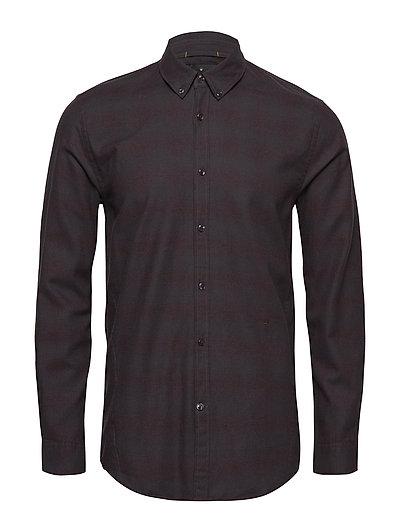 Cotton mel L/S flannel shirt - RED MEL
