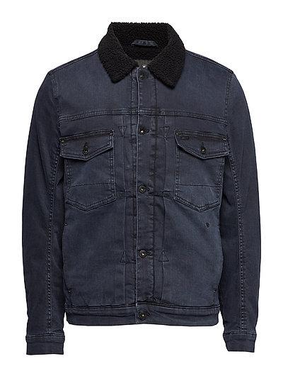 Piled overdye denim jacket - OVERDYE BLUE