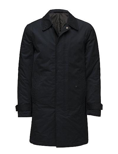 Padded Mac coat - DK BLUE