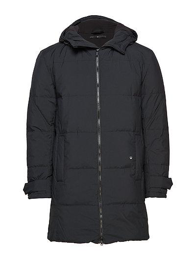 Down padded parka coat - BLACK
