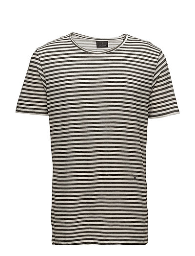 Mélange stripe tee S/S - DUSTY BLACK