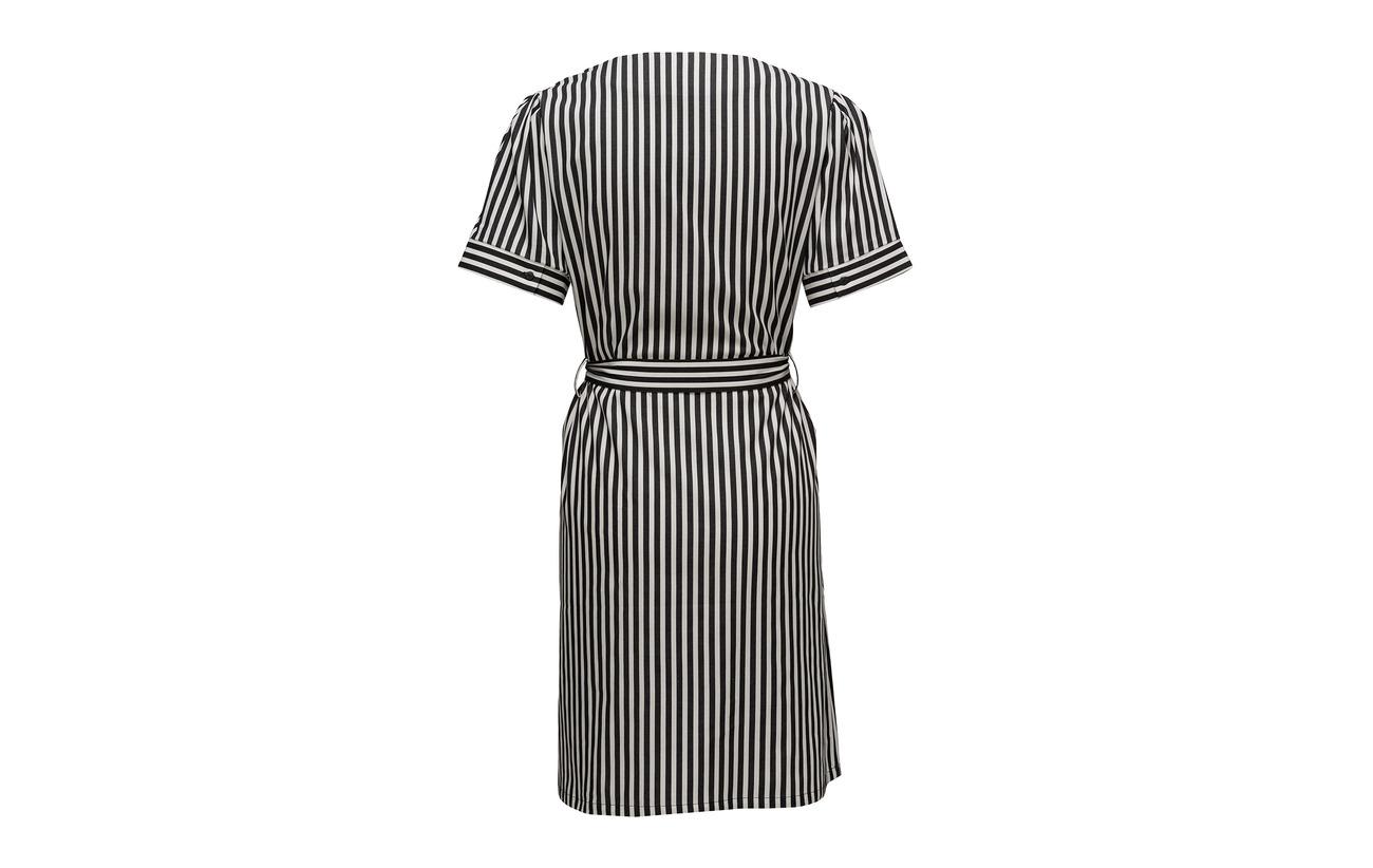 Dress Coton 3 Stripe Just 97 Elastane Black Female Bodil Axw0YqvE