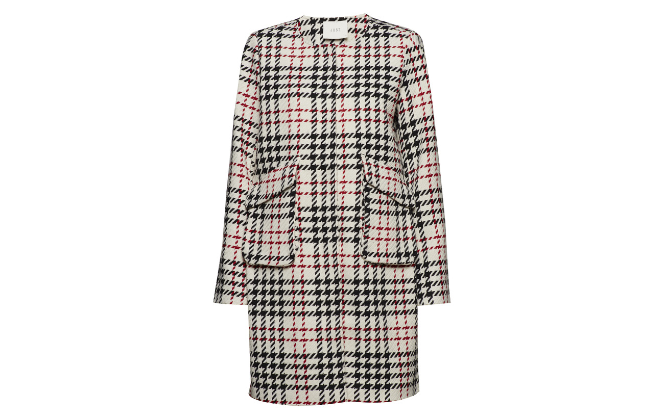 Laurine Check Coat Polyester 100 Female Just Tq5wvtxqR