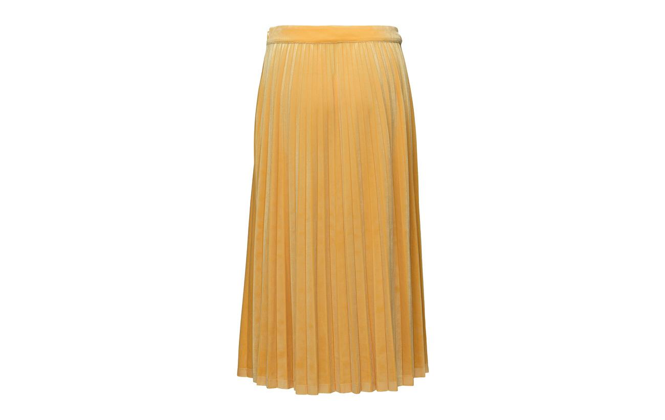 Polyester Yellow Elastane Skirt Velvet Spectra 10 Just Clara 90 Female wxO101