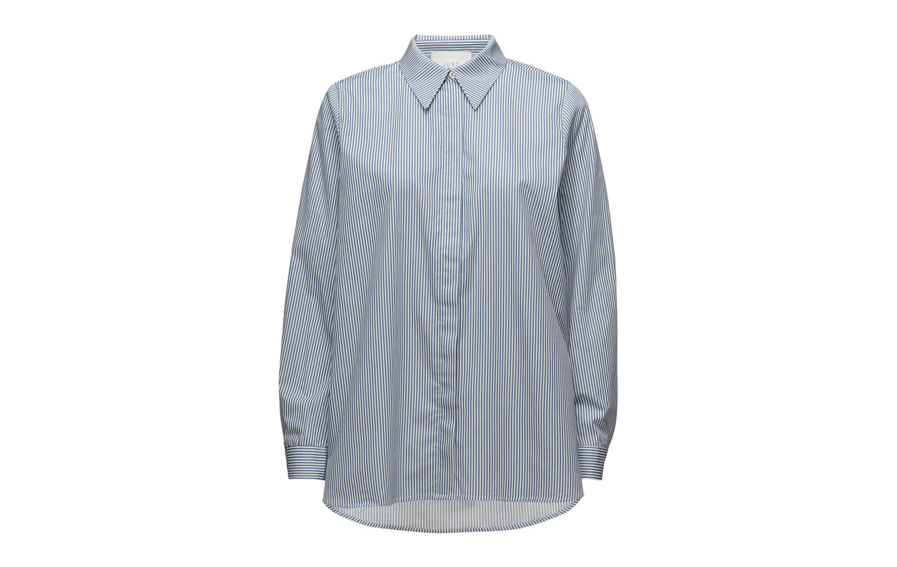 Blue Stripe Shirt Just Coton Bio Timeo Female 100 Federal ArIFIXq