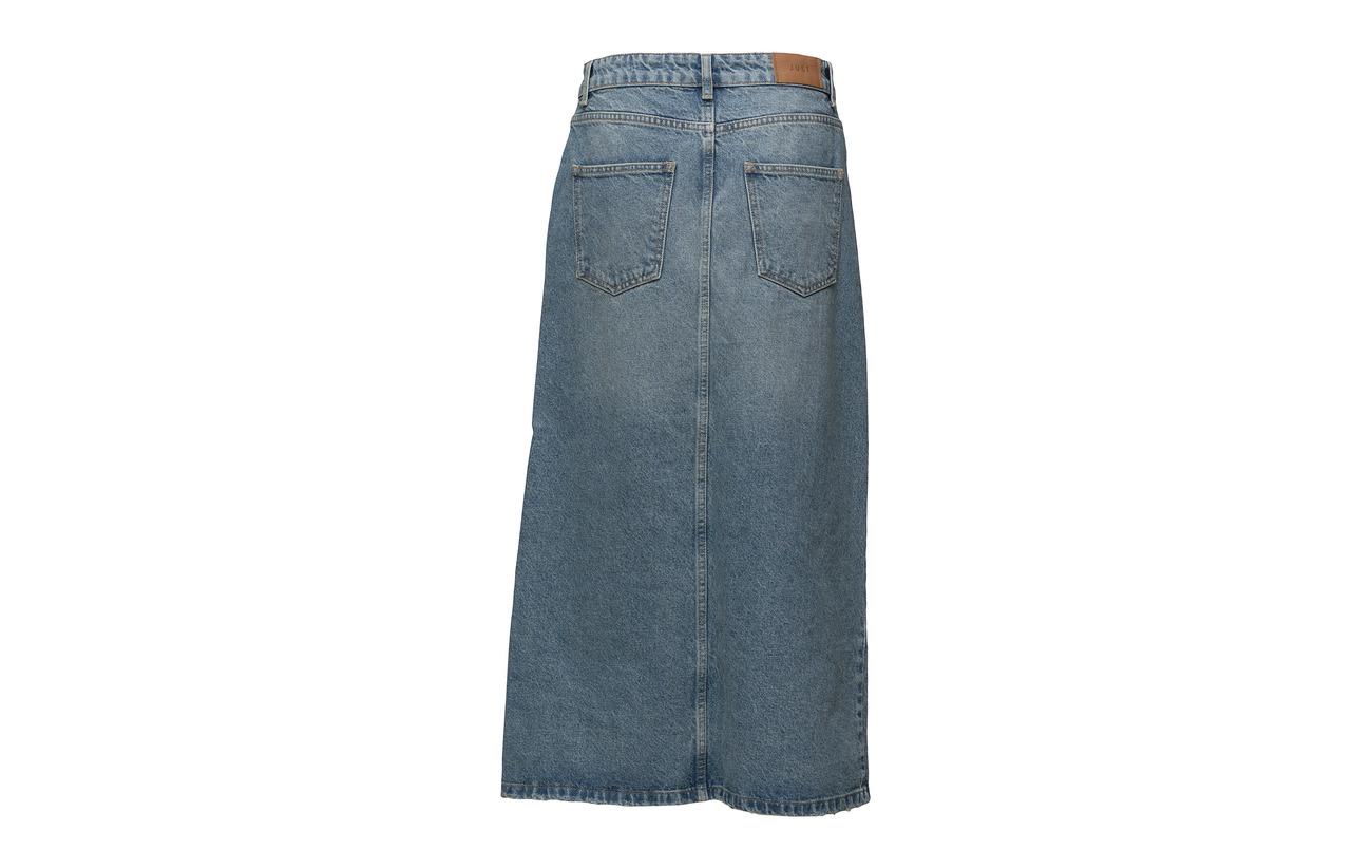 Female 100 Denim Light Coton Blue Skirt Just Wall 4Oqwxzq6