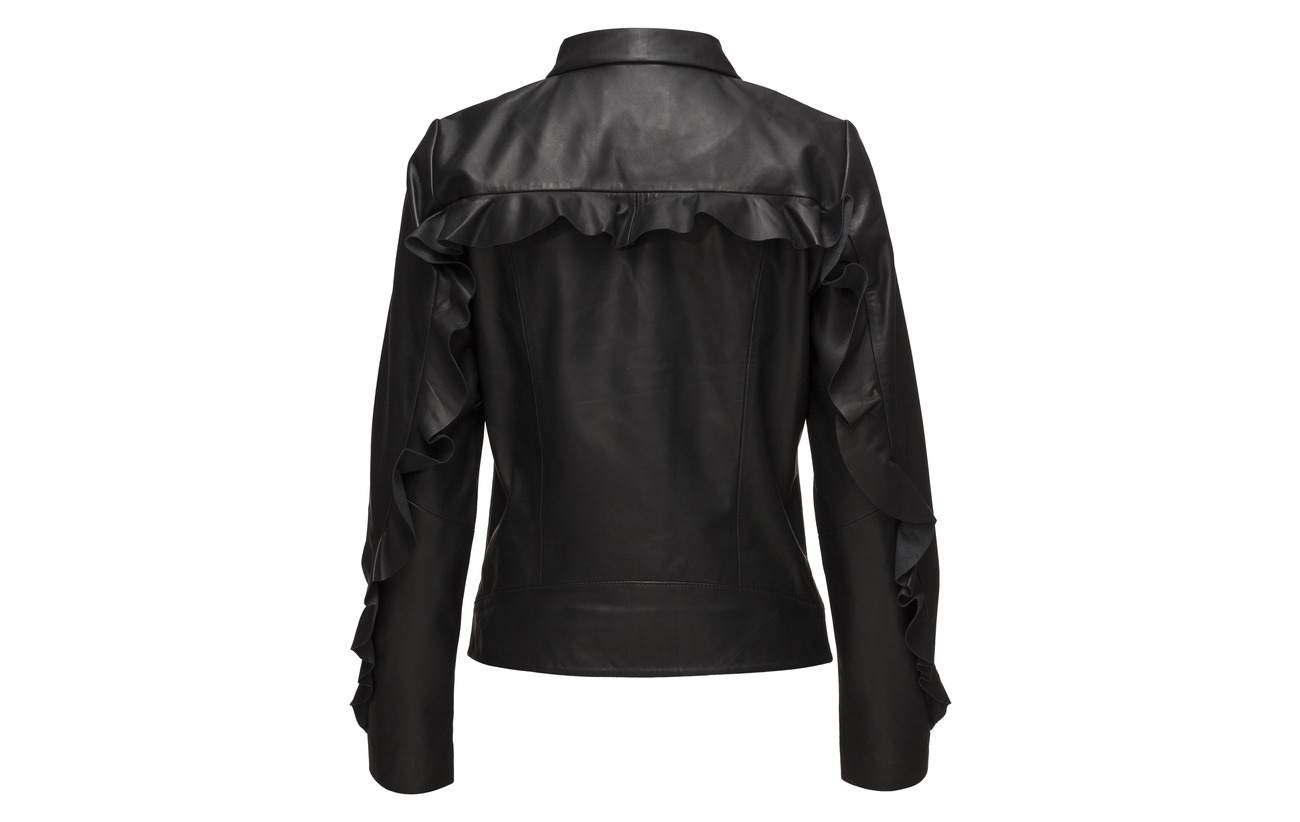 Mouton Leather Peau Jacket Female De 100 Black Victor Just 7Z8xBq