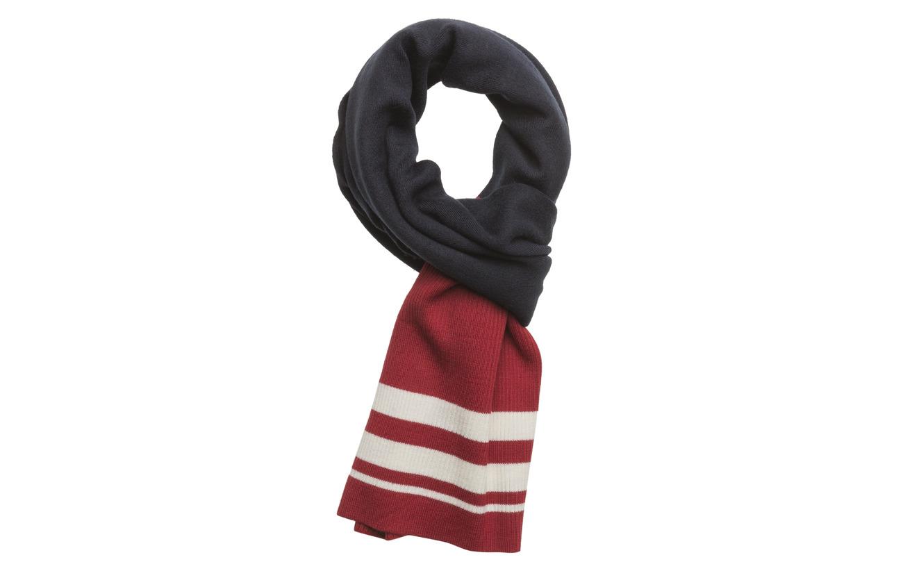 Just Female Trix scarf - BLUE RED STRIPE