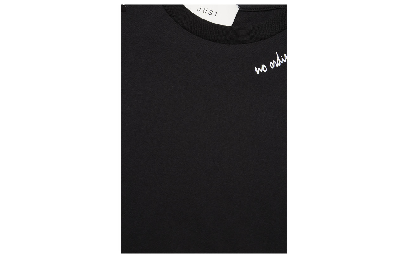 Female Tee Just 100 Black Coton Muse xPSnBq8A