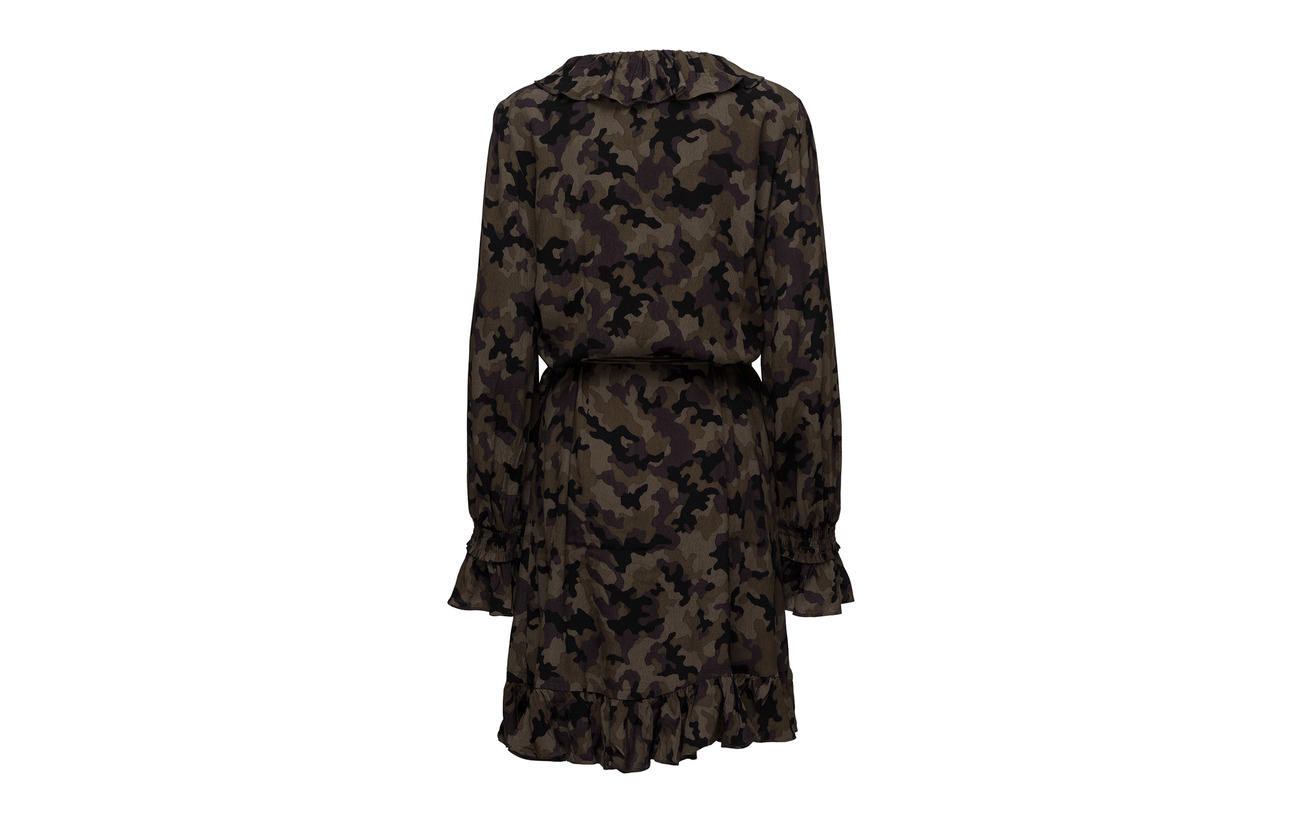Naila Viscose Dress Camouflage Wrap Just Female 100 wf4gqq