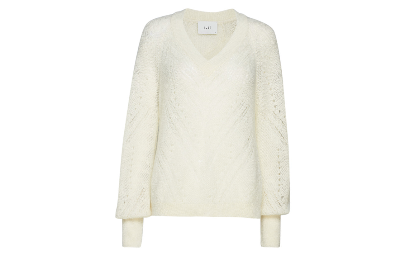 Knit Off Mohair Just Polyamide 40 30 Female Acrylique White Garla pAqg6