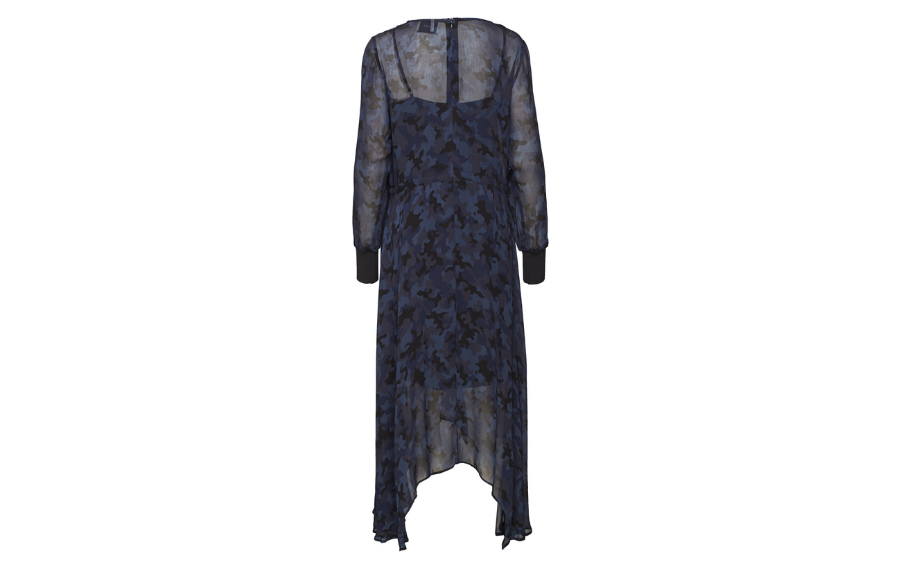 Just 100 Female Camu Dress Viscose Alex Blue XrwgrxFHq