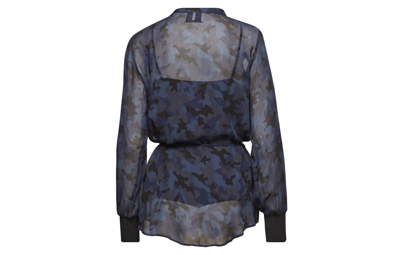 Camu Viscose Alex 100 Female Just Shirt Blue qnOFzxPw
