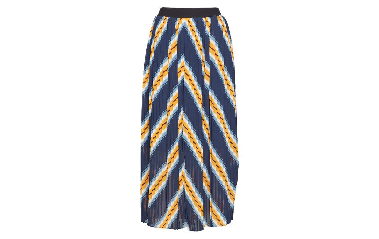 Orange Just Polyester Stripe Skirt 100 Female Line r1cw1qFt