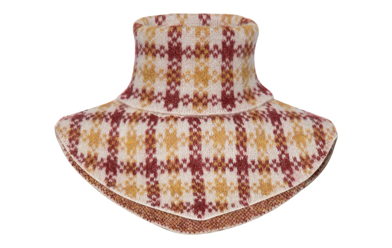 Just Female Harper knit buff - HARPER GOLDEN CHECK AOP