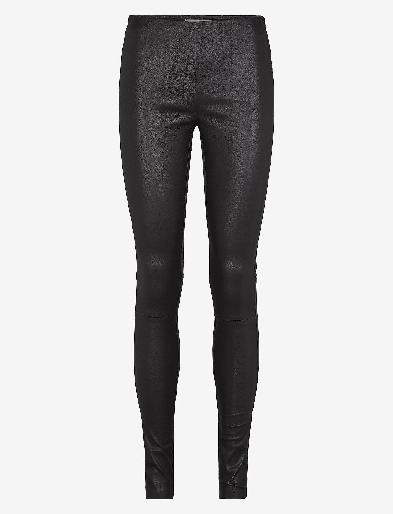 Just Female - Nex leather leggings - skinnbyxor - black - 0