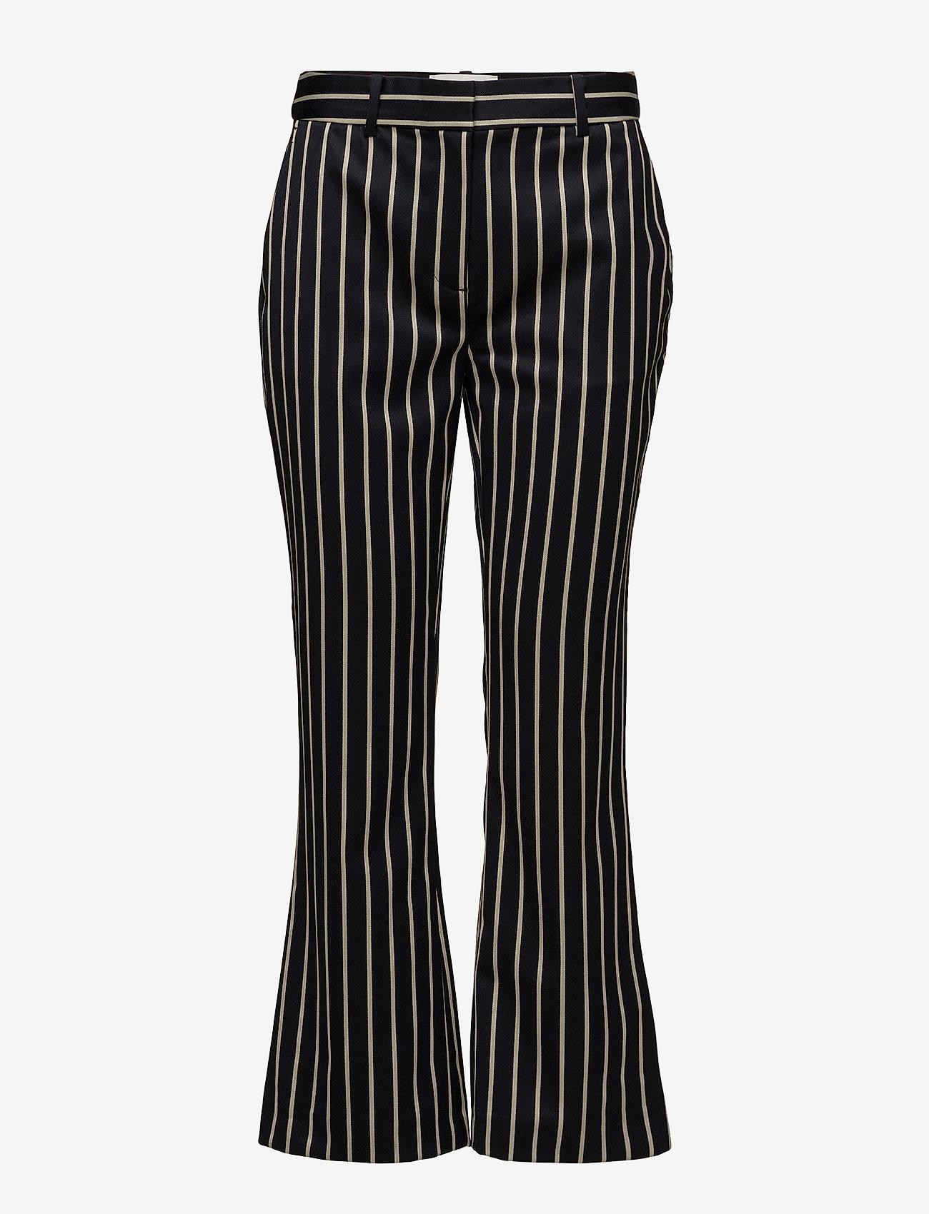Just Female - Laurent trousers - bukser med brede ben - blue white stripe - 0
