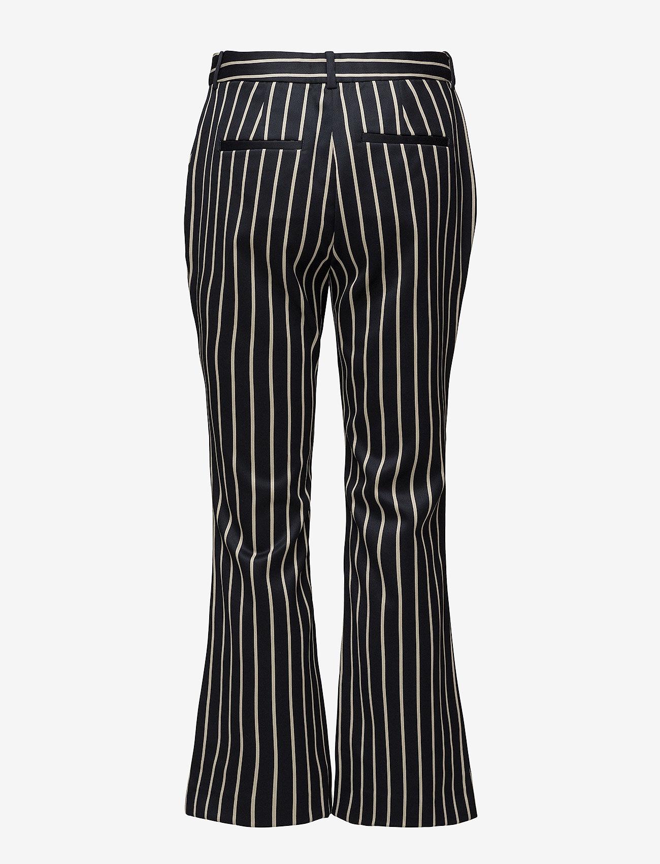 Just Female - Laurent trousers - bukser med brede ben - blue white stripe - 1