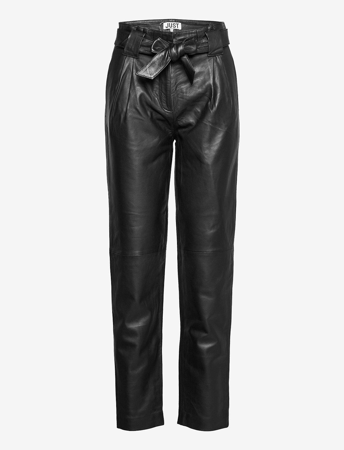 Just Female - Sago leather trousers - lederhosen - black - 0
