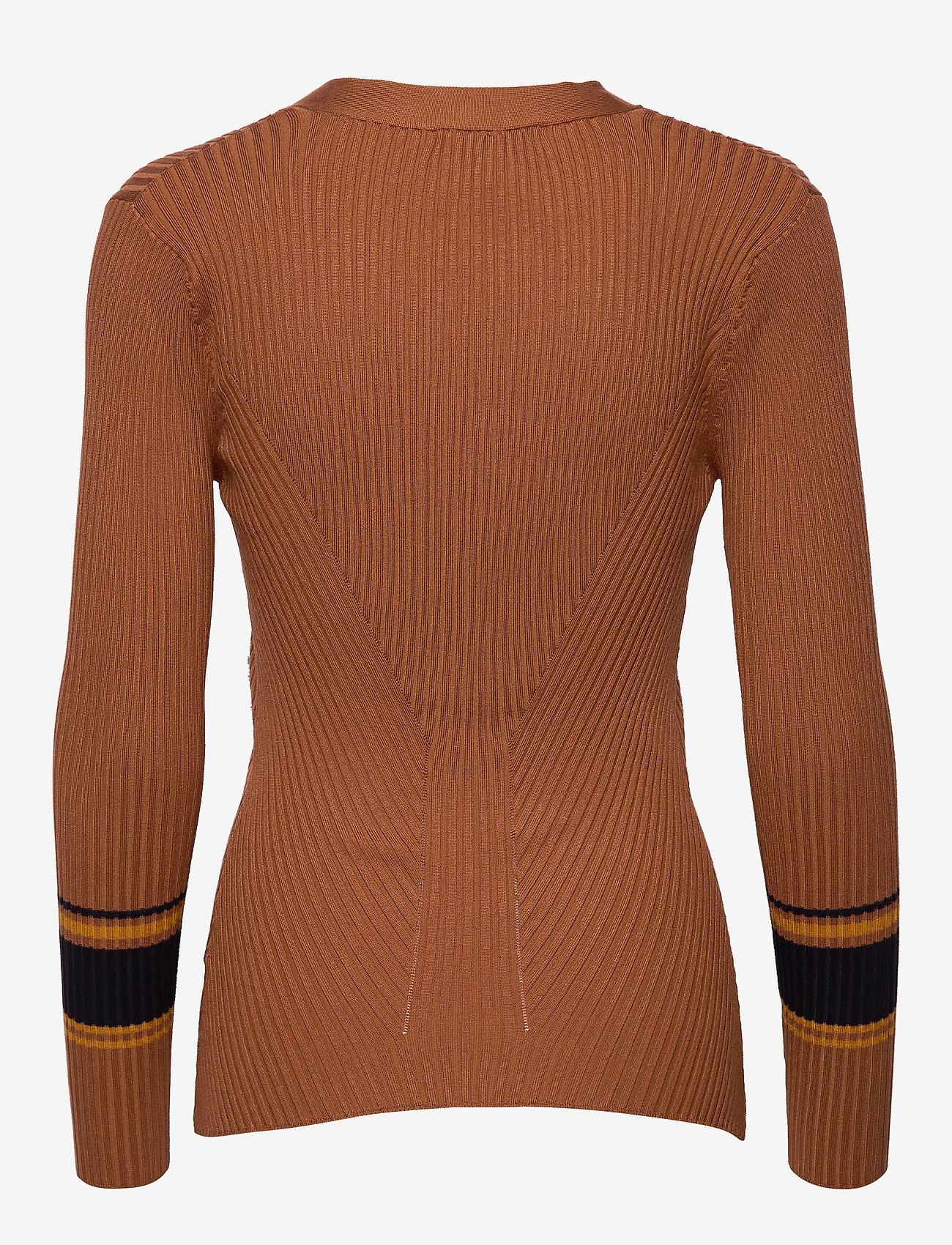 Just Female - Vindis knit blouse - neulepuserot - pumpkin spice comb.