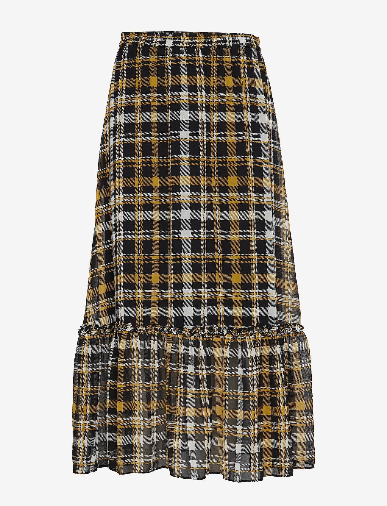 Just Female - Brix maxi skirt - maxikjolar - karen check aop - 0