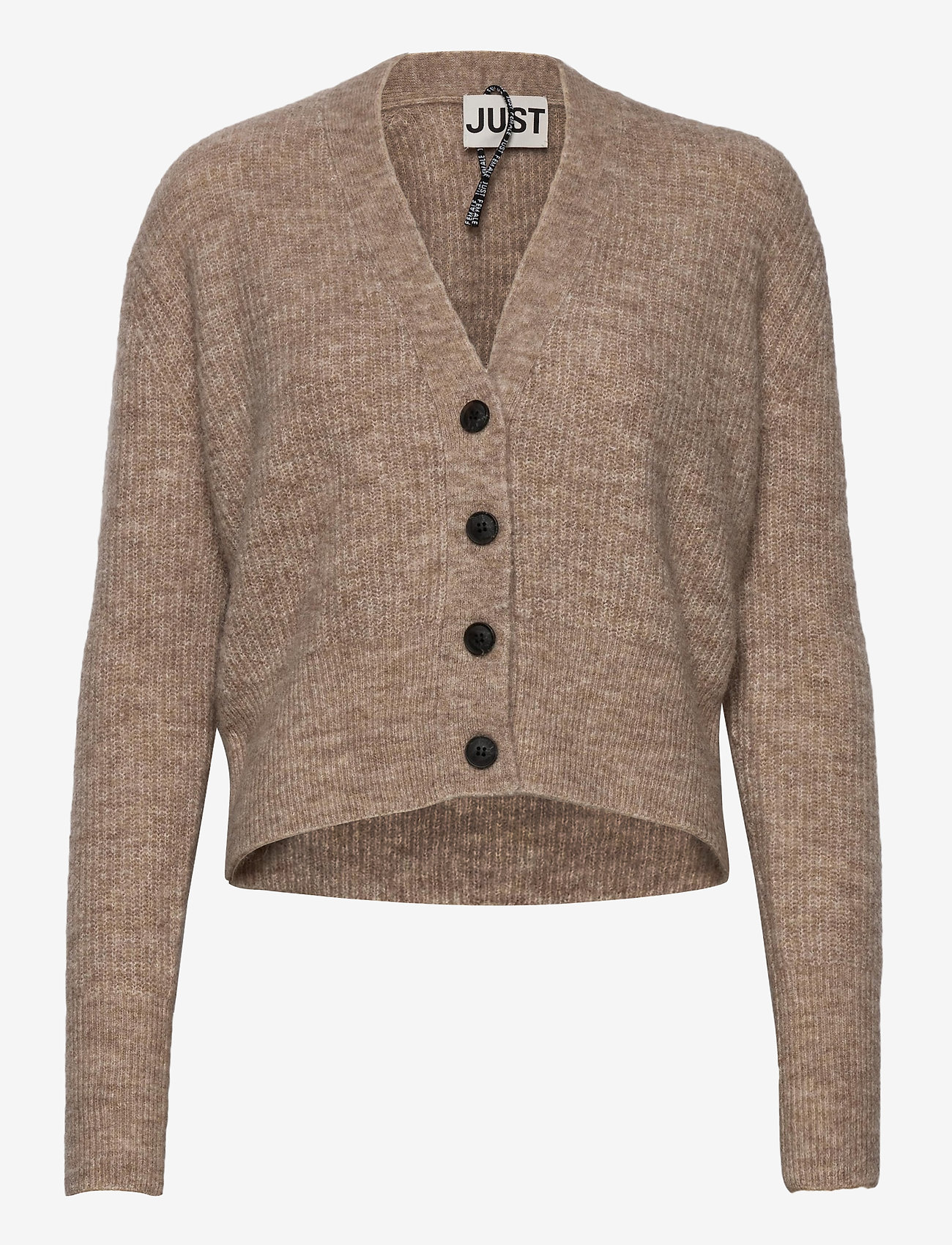 Just Female - Rebelo knit cardigan - koftor - oatmeal - 0