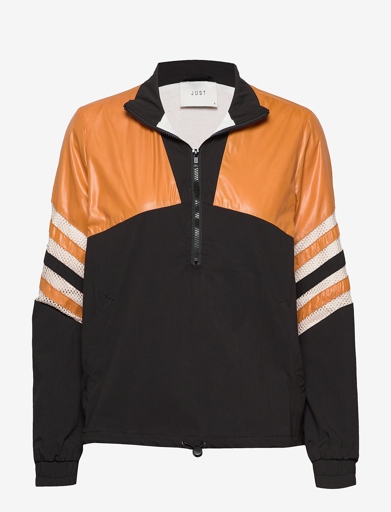 Just Female - Venus track jacket - bomber jakker - black yellow stripe - 0