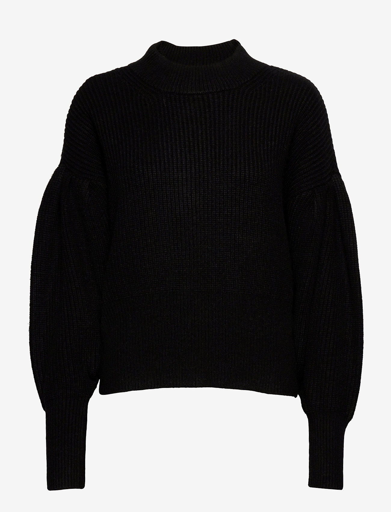 Just Female - Sophie high neck knit - tröjor - black - 1