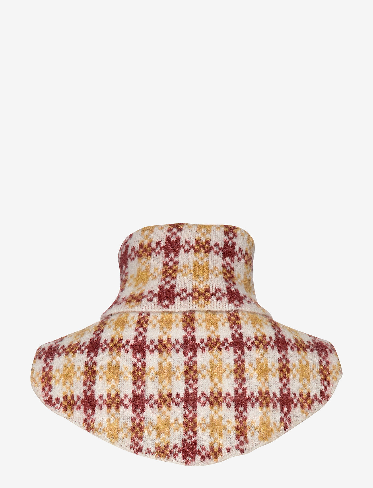Just Female - Harper knit buff - huivit - harper golden check aop
