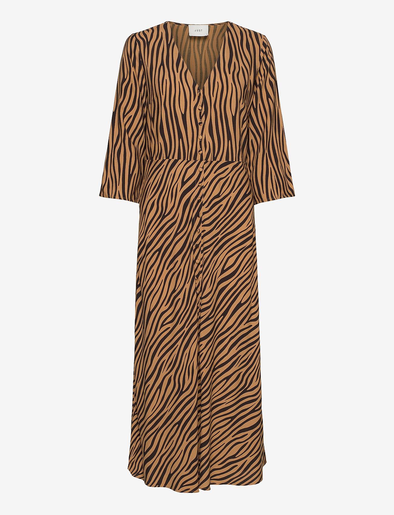 Just Female - Nia maxi dress - everyday dresses - zebra aop - 0