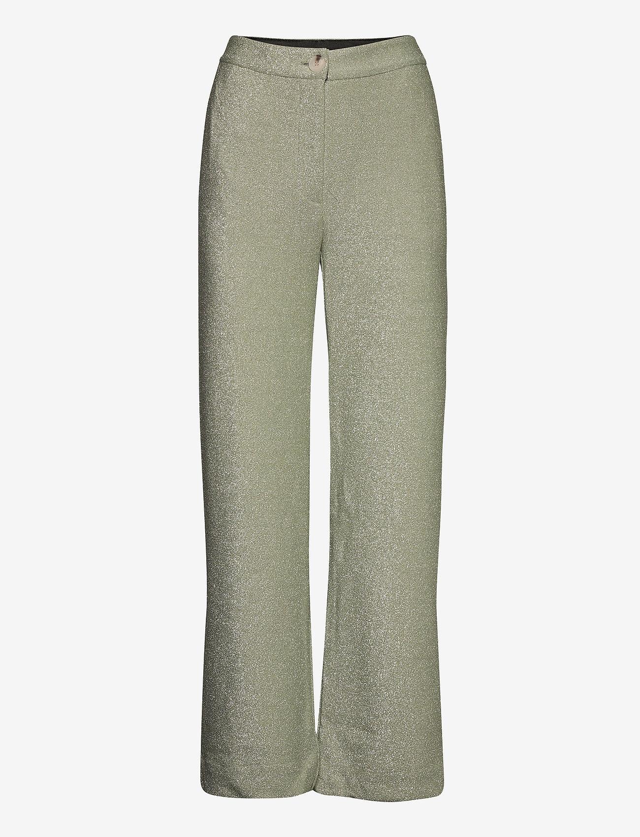 Just Female - Utopio trousers - straight leg trousers - celadon green - 0