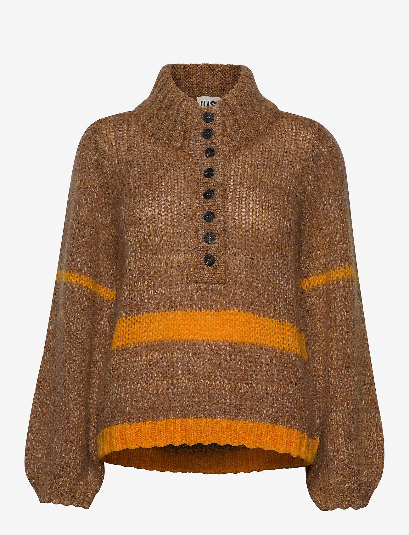 Just Female - Dolly high neck knit - turtlenecks - nature combo - 1