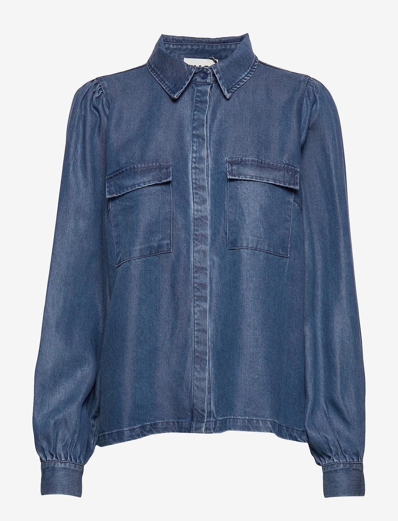 Cas Shirt (Dark Blue Denim) - Just Female i2upfr