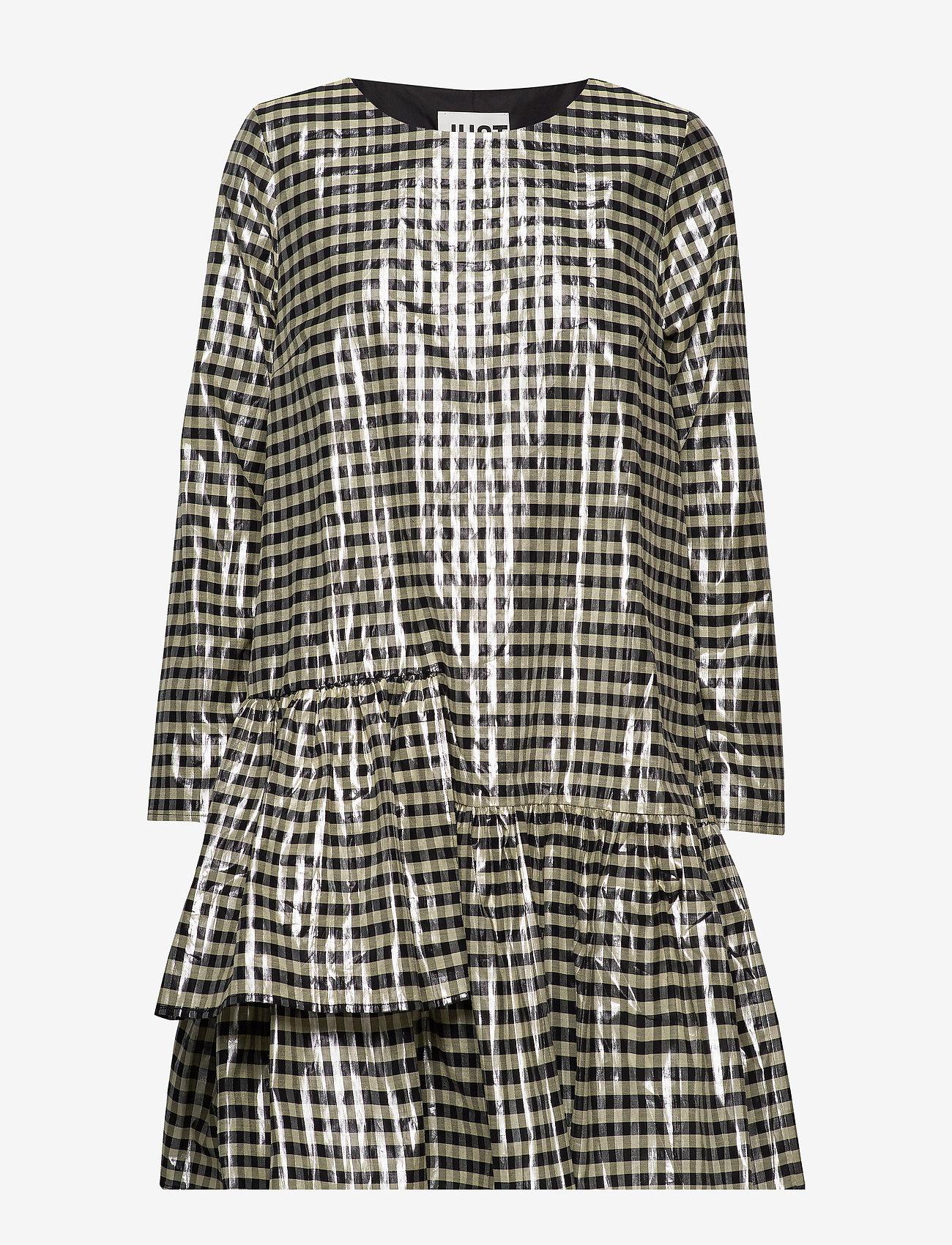 Just Female - Petrina dress - midiklänningar - petrina check - 0